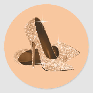 Peach High Heel Shoe Stickers