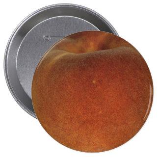 Peach Huge, 4 Inch Round Button