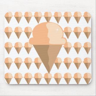 Peach Ice Cream Cone Mouse Pad