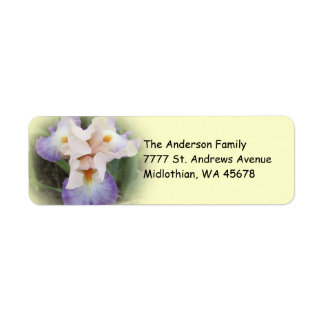 Peach Iris Return Address Avery Label Return Address Label