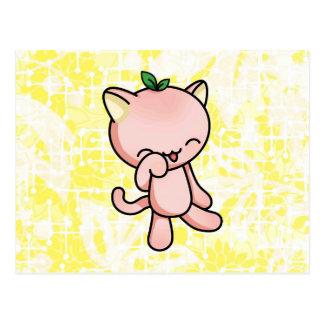 Peach Kitty Postcard