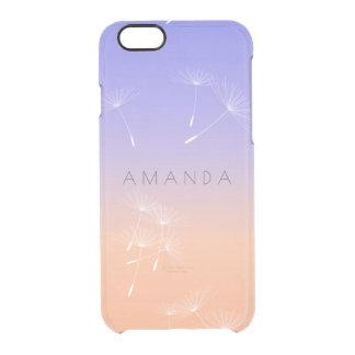 Peach Lavanda Blue Ombre Pastel Dandelion Case