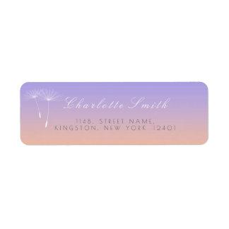 Peach Lavanda Gray Ombre Dandelion Address