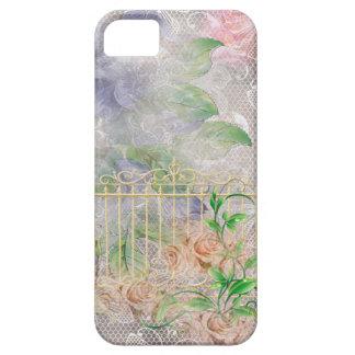 Peach & Lavender Roses Garden Gate Toule iPhone 5 Case