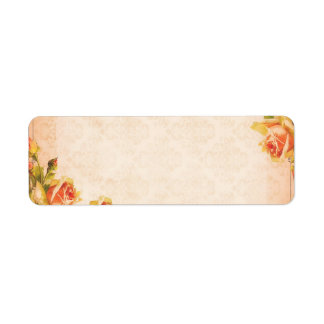 Peach Linen Collection Return Address Labels