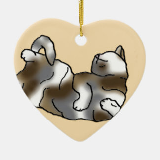 Peach Lounger Ceramic Heart Decoration