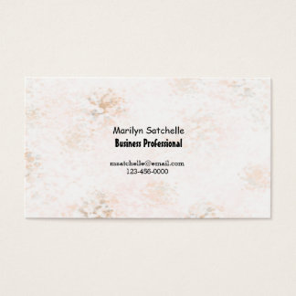 Peach Marble Abstract Contemporary Business Card