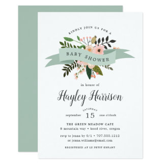 Peach Meadow | Baby Shower Invitation