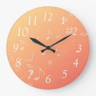 Peach Music Clock