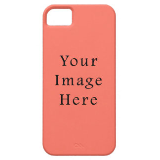 Peach Nectarine Pink Color Trend Blank Template iPhone 5 Cases