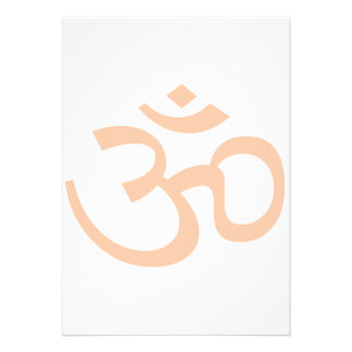 Peach Om or Aum ॐ.png Personalized Invites