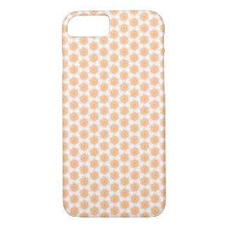 Peach / Orange Floral Design - iPhone 7 Case