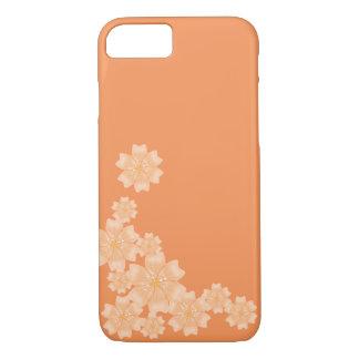 Peach/Orange Floral Design - iPhone 7 Case / Skin