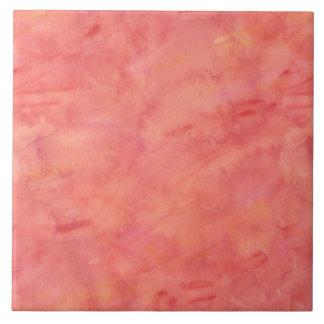 Peach Orange Watercolor Texture Pattern Tile