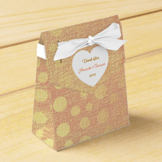 Peach Pastel Golden Dots Birthday Wedding Favor Party Favour Box