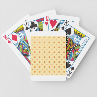 Peach Pattern Bicycle Playing Cards