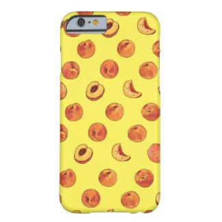 Peach pattern iPhone 6 case - yellow