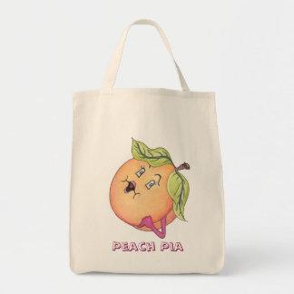 """Peach Pia"" Grocery Bag"