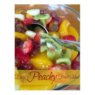 Peach Pie Filling Fruit Salad Recipe Card