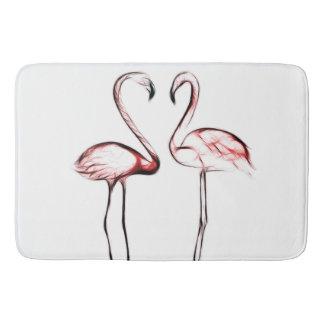 Peach Pink Flamingos Flamingo Tropical Bath Mat