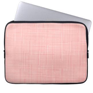 Peach Pink Line Pattern Design Laptop Sleeve