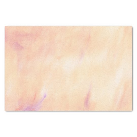 Peach Pink Marble Watercolor Pattern Tissue Paper