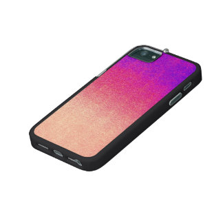 Peach Pink Neon Purple Ombre Spray Paint Texture Cover For iPhone 5