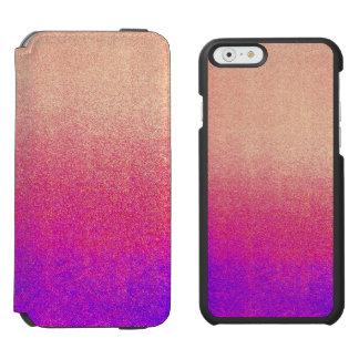 Peach Pink Neon Purple Ombre Spray Paint Texture Incipio Watson™ iPhone 6 Wallet Case
