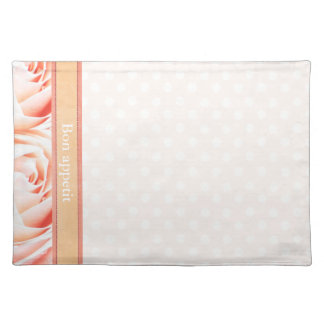 Peach Pink rose Placemat