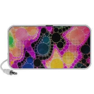 Peach Pink Yellow Abstract iPod Speakers