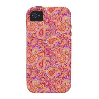 Peach & Purple Paisley Vibe iPhone 4 Covers