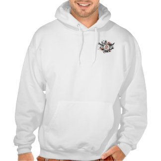 Peach Ribbon And Wings Uterine Cancer Hoody