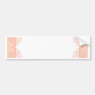 Peach romantic elegant invitation template bumper sticker