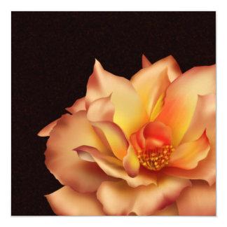 Peach Rose 13 Cm X 13 Cm Square Invitation Card
