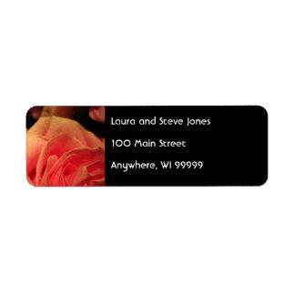 Peach Rose Address Labels