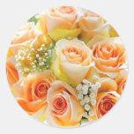 Peach Rose Envelope Seal Stickers