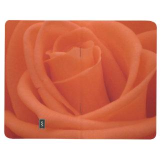 Peach Rose Floral Image Pocket Journal