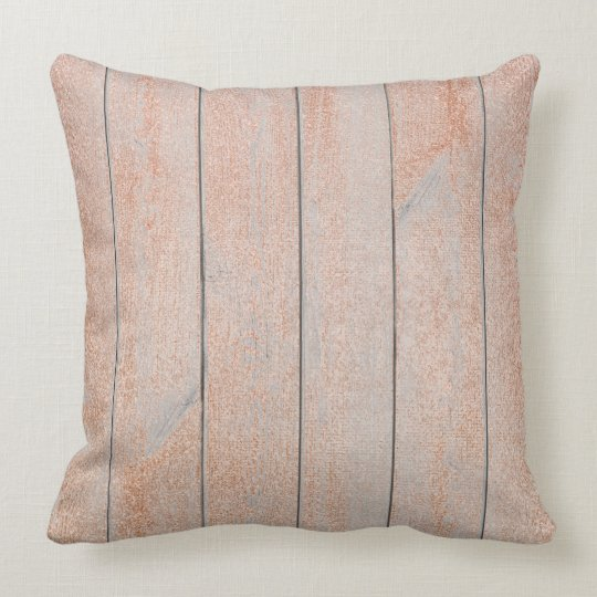 Peach Rose Gold Glam Metallic Wood Cottage Home