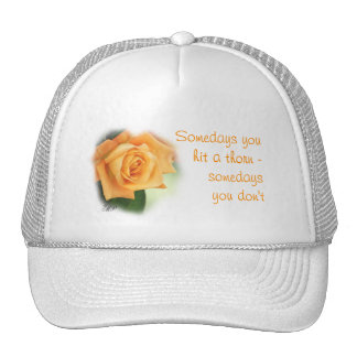 Peach Rose Lady's Cap- personalize Trucker Hat