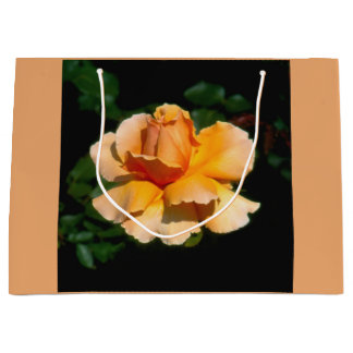 Peach rose large gift bag