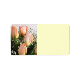 Peach Rose Mailing Labels