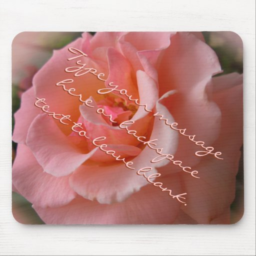 Peach Rose Mousepad Personalized Wild Rose Gifts