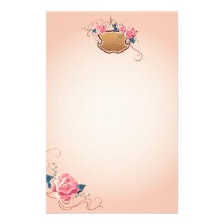 Peach Rose Stationary Stationery