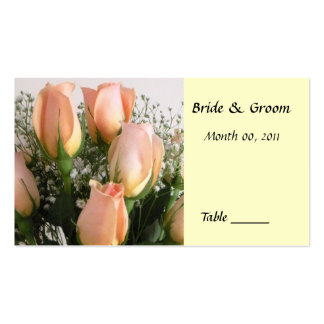 Peach Rose Table Place Card Pack Of Standard Business Cards