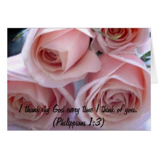 Peach roses cards