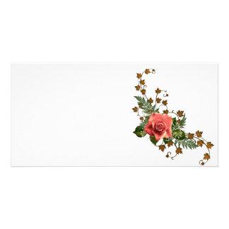 Peach Roses Photo Cards