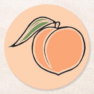 Peach Round Paper Coaster