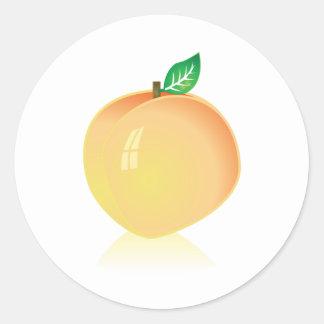 Peach Round Sticker
