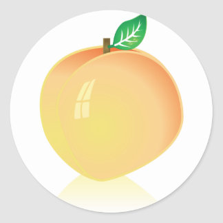 Peach Round Sticker