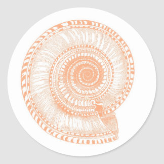 Peach Sea Shell Sticker